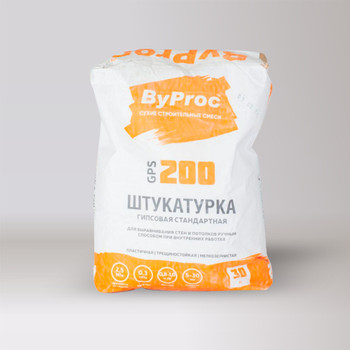 Штукатурка гипсовая стандартная ByProc, 30 кг