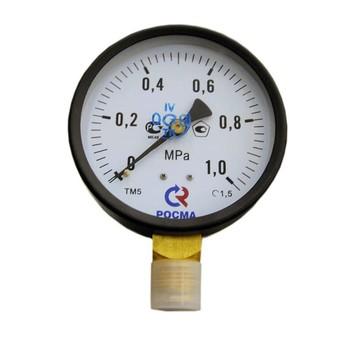 Манометр радиальный 10 бар (кгс/см2), d=100мм, М20х1.5, ТМ-510Р, РОСМА