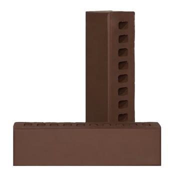 Кирпич евро одинарный пустотелый лицевой М-150/200, шоколад классика, ЛИКолор (250х60х65мм)