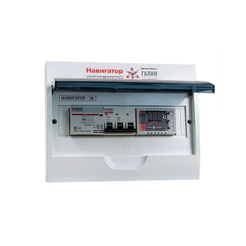 Терморегулятор электронный Навигатор-18 Н (ЩРН-12,IP40,12мод, д/котлов Галан,б/датчиков под.и обр.)