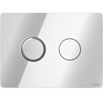 Кнопка для инсталляции ACCENTO CIRCLE, пневматическая, хром глянцевый