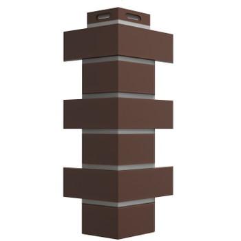 Угол наружный Flemish коричневый 140х420 Дёке
