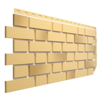 Панель фасадная Flemish желтый жженый 1095х420 мм (0,46м2) Дёке