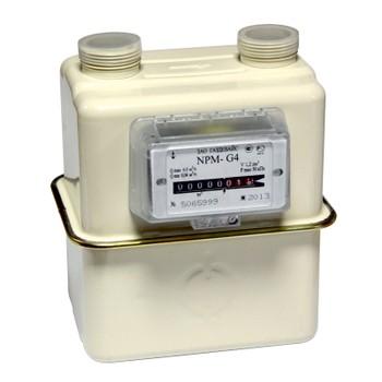 Счетчик газа NPM-G 4 (до 6 м3/ч) (слева-направо) Ду20