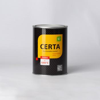 Эмаль термостойкая (до+1200°С) черная CERTA, 0,8 кг