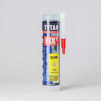 Клей-герметик Fix2 Clear Tytan Professional, 290 мл