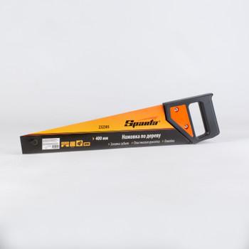 Ножовка по дереву, 400 мм, 5-6 TPI, каленый зуб, линейка, пластиковая рукоятка