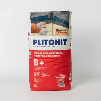 Клей для плитки (С1 ТЕ) Плитонит В+, 25кг