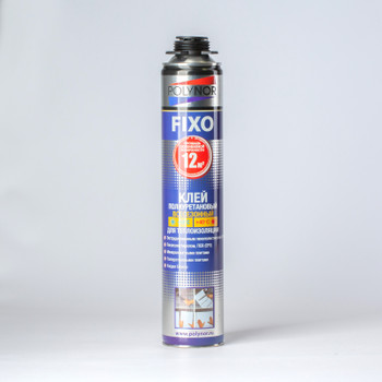 Клей полиуретановый для теплоизоляции POLYNOR FIXO, 900мл