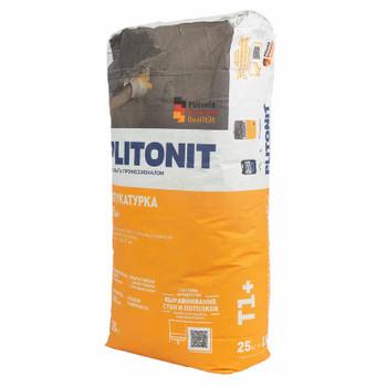 Штукатурка цементная Plitonit Т1+, 25 кг