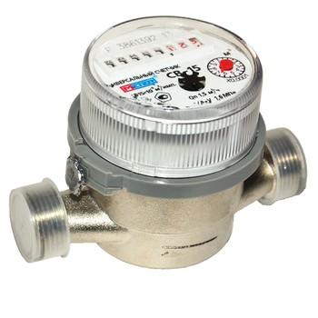 Счетчик воды антимагн. универсальный Meter СВ-15 Ду15 со штуцерами кварт. 1,5м3/час (уп.20шт.)