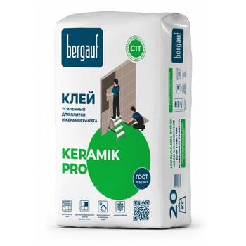 Клей для плитки (С1 Т) Bergauf Pro Keramik, 20 кг