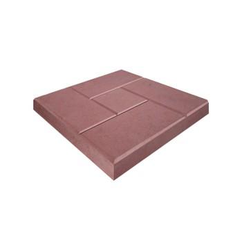 Плитка тротуарная Кирпич ЭКО-плит 300*300*30, красный