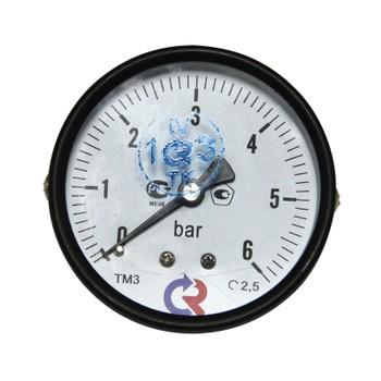"""Манометр радиальный 6 бар (кгс/см2), d=100мм, G1/2, МП3-УМ-2, ПО """"ПРИБОР"""""""