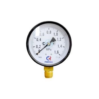"""Манометр радиальный 16 бар (кгс/см2), d=100мм, G1/2"""", ТМ-510Р-М2, РОСМА"""