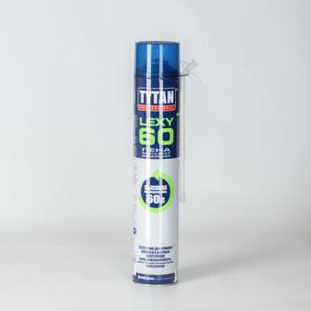 Пена монтажная Tytan О2 Lexy 60 бытовая, всесезонная, 750 мл