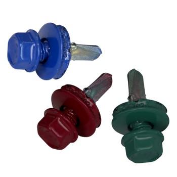 Саморез кровельный цветной 4,8х19мм (250шт в уп.) на заказ