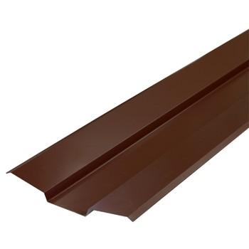 Планка ендовы верхняя Металлпрофиль Pe RAL 8017 76х76х2000мм шоколад