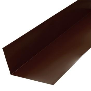 Планка примыкания верхняя Металлпрофиль Pe RAL 8017 250х147х2000мм шоколад