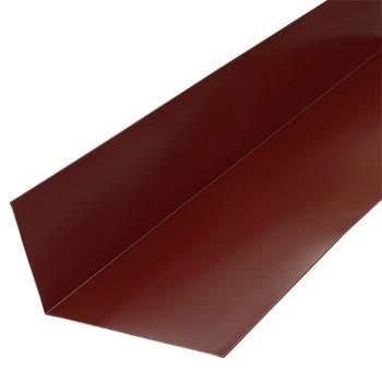 Планка примыкания верхняя Металлпрофиль Pe RAL 3005 250х147х2000мм красное вино