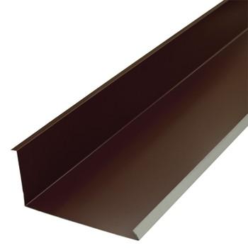 Планка примыкания нижняя 250х122х2000 (ПЭ-8017-ОН) шоколад
