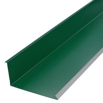 Планка примыкания нижняя 250х122х2000 (ПЭ-6005-Он) зел.мох
