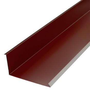 Планка примыкания нижняя Металлпрофиль Pe RAL 3005 250х122х2000мм красное вино