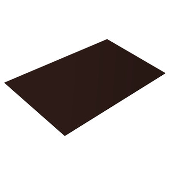 Лист плоский (ПЭ-8017-0,45 мм) 1,25х2 шоколад