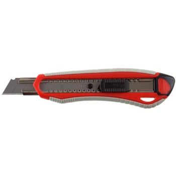 Нож ЗУБР МАСТЕР с сегментированнымлезвием, двухкомпонентный корпус,автофиксатор, сталь У8А, 18мм