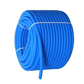 Цветная гофрированная трубка Ø25 (на 16-ю трубу) синяя, бухта 100м