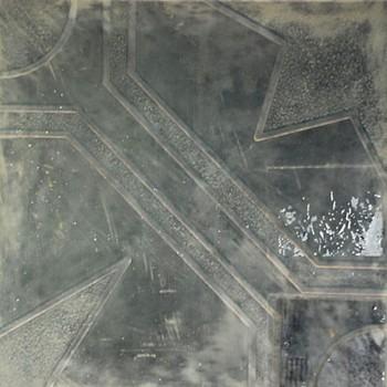 Плитка тротуарная Ажурная черн.(300х300х30)
