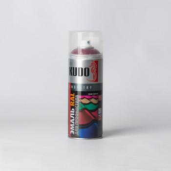 Эмаль аэрозольная винно-красная KUDO (RAL 3005) 0,52л