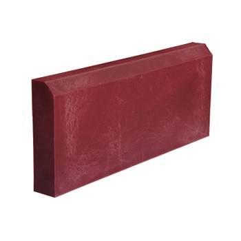 Бордюр тротуарный полимерпесчанный красный 500х250х50 мм