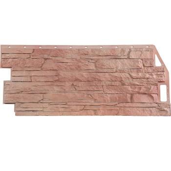 Панель фасадная скала терракотовый 1,094х0,459м, Файн Бир