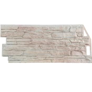 Панель фасадная скала мелован. белый 1,094х0,459м, Файн Бир