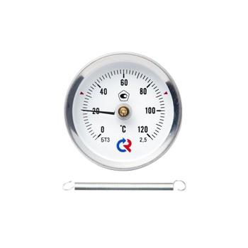 Термометр биметаллический пружинный 0-150°С, D=63ММ, БТ30.010