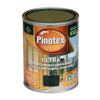 Декоративно-защитное средство д/дерева Pinotex Ultra Черный, 1л