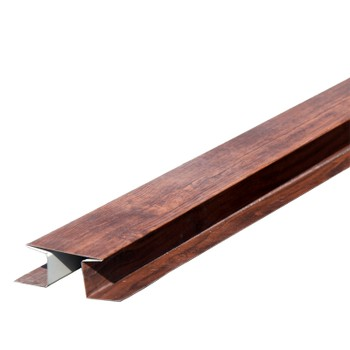 Планка стыковочная сложная метал. (мореный дуб) 75х3000 Woodstock