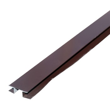 Планка стыковочная сложная МП Шоколадно-коричневый 75х3000 мм RAL 8017