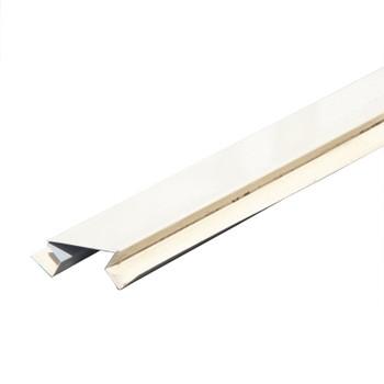 Планка угла внут. сложного метал. (светлая слон. кость RAL 1015) 75х3000