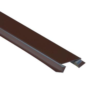 Планка угла внут. сложного метал.(коричневый шоколад RAL 8017) 75х3000