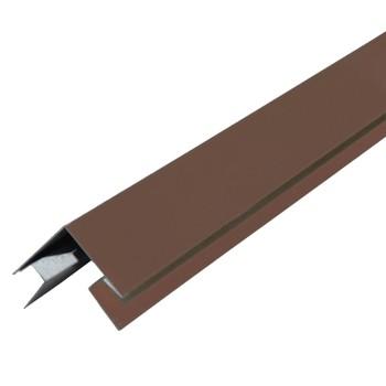 Планка угла наружного сложного МП Шоколадно-коричневый 75х75х3000 мм RAL 8017