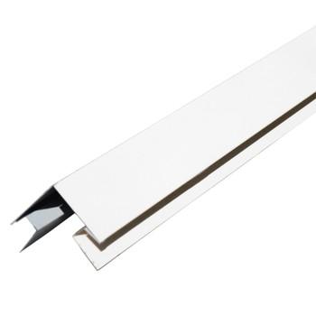 Планка угла наружного сложного МП Белая 75х75х3000 мм RAL 9003