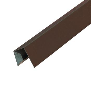 Планка заверш. сложная метал. (коричневый шоколад RAL 8017) 30х25х3000