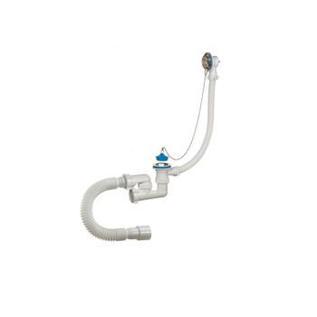 Сифон для ванны регулируемый с переливом и гибкой трубой 1.1/2 40/50 А- 80089 Орио