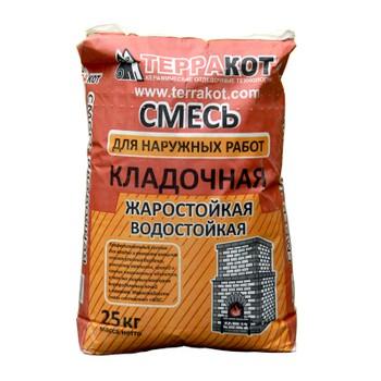 Смесь кладочная жаростойкая для наружных работ Терракот, 25 кг