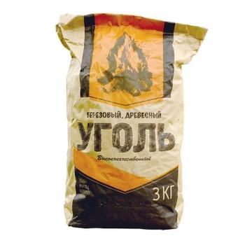 Уголь древесный, 3 кг