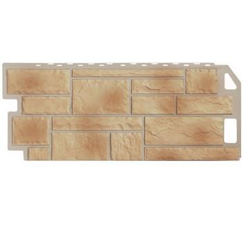 Панель 1,135х0,47м камень бежевый, Файн Бир (цокольный сайдинг)
