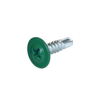 Саморез с п\ш сверло 4,2х16мм зеленый RAL 6005 (175шт) 205305