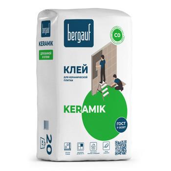 Клей для плитки (С0) Bergauf Keramik, 20 кг